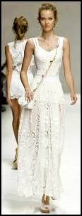 Dolce&Gabbana White Lace Maxi Dress.