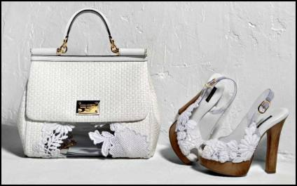 Dolce&Gabbana White Lace Bags & Shoes Summer 2011.