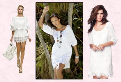 Summer White Tunic Dresses.