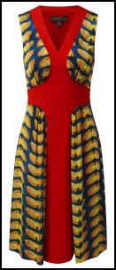 Fever Butterfly Dress In Geometric Arrangement.