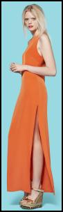 Primark UK - Limited Edition Orange Maxi Dress.