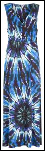 Claire Sweeney Blue Tie Dye Watercolours Maxi Dress.
