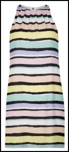 New Look Striped Pastel/Black Dress.