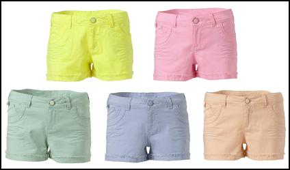Pastel Coloured Shorts.