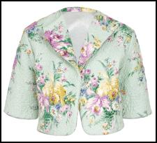 Mint Green Floral Rose Print Jacket.