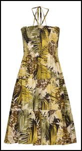 Boohoo Jungle Tribal Print Yellows Sundress.