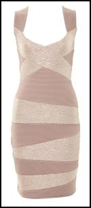 Nude Body-con Dress by A-Wear.