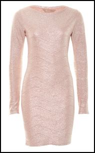 A|wearNude Bodycon Metallic Dress �35.