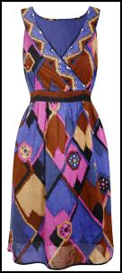 Evans Plus Size Diamond Print Dress.
