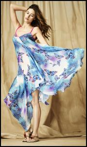 Blue Watercolours Maxi Dress.