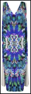 Monsoon Digital print V-neck Oceana Dress.