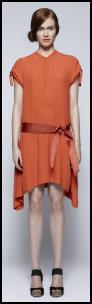 Burnt Orange Dress.