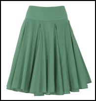 Mint Green Chiffon Hip Yoke Summer Skirt .