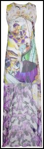 Mary Katrantzou Tropicana Purple Lilac Floral Tunic Dress �920 farfetch.com.