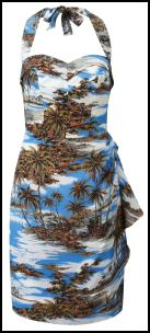 Fever SS12 Tropical Palm Trees & Ocean Dress.