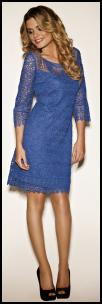 Kaliko SS12 Blue Lace Dress.