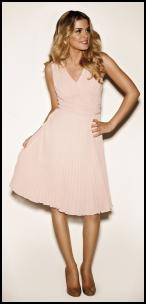 Kaliko Pastel Pink Fine Pleat Dress.
