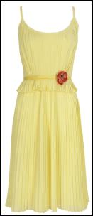 Monsoon Lemon Lauren Dress.