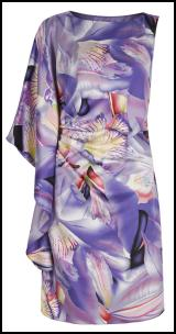 Print Pleat One Shoulder Dress �50 Littlewoods.com.