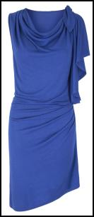 Monsoon Draped Cobalt Blue Amazon Dress.