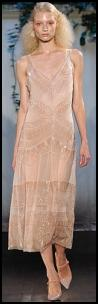Philosophy Catwalk - Pastel Peach Retro Twenties Beaded Dress.