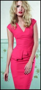 Dorothy Perkins SS12 - Coral Pink Peplum Shift Dress.