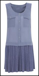 Marks & Spencer Blue Dropped Waist Dress.