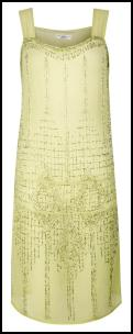 Pastel Lemon Beaded Retro Twenties Flapper Dress From New Look.