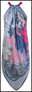 Wallis Multi-colour Halter Scarf Print Dress.