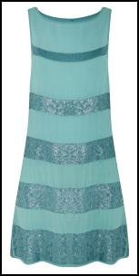 Sea Green Beaded Shift Dress.
