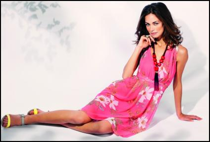 Hot Pink Tropical Print Dress - Wallis Summer 2012.