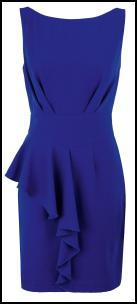 Blue Half Peplum Dress.