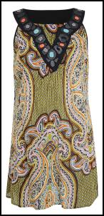 Plus Size Beaded Neck Top.