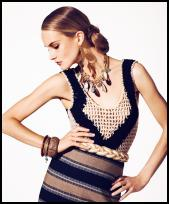 Tribal Fashion Look Crochet Vest Top.
