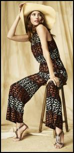 Monsoon Ivanka Jumpsuit - Jungle Tribal Print.
