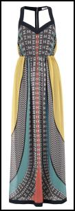 Tribal Print Haltered Maxi Dress.