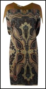 Paisley Scarf Print Tribal Colours Dress.