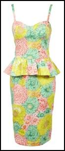 ASOS Peplum Flowered Dress.