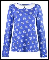 Peter Pan Floral Print Top.