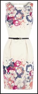 Oasis SS12 - Rose Flowers Border Print Dress.