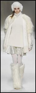 White Fur Catwalk Fashion By Blugirl.