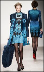 Holly Fulton Blue Digital Coat & Dress.