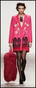 Holly Fulton Digital Pink Coat.