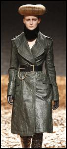Leather Fashions by McQueen.