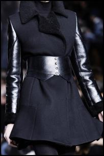 Belted Black Mini Coat By DKNY.