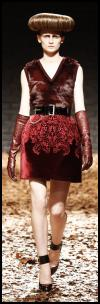 McQueen Red Patterned Skirt.