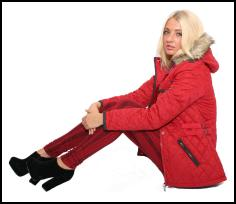 Pilot Red Quilted Jacket AW12/13.