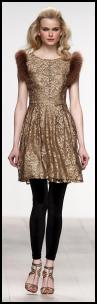 Issa AW12/13 - Gold Lace Dress.