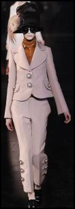 Louis Vuitton Pink Wide Collared Jacket and Trousers, Pants Suit.