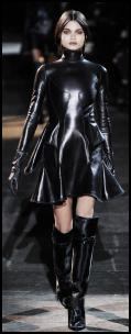 Givenchy Black Leather Dress.